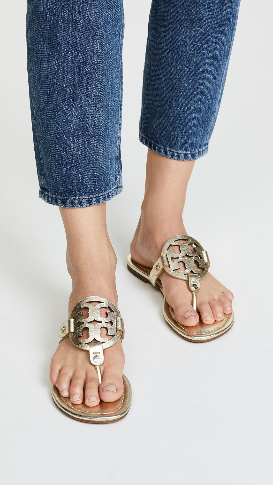 061e13ea7010 Tory Burch - Multicolor Miller Thong Sandals - Lyst. View fullscreen