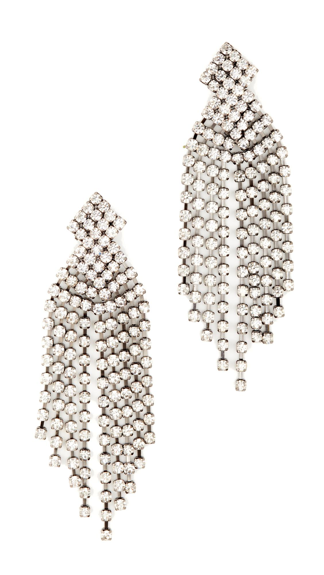 Womens Crystal-Embellished Waterfall Earrings Kenneth Jay Lane