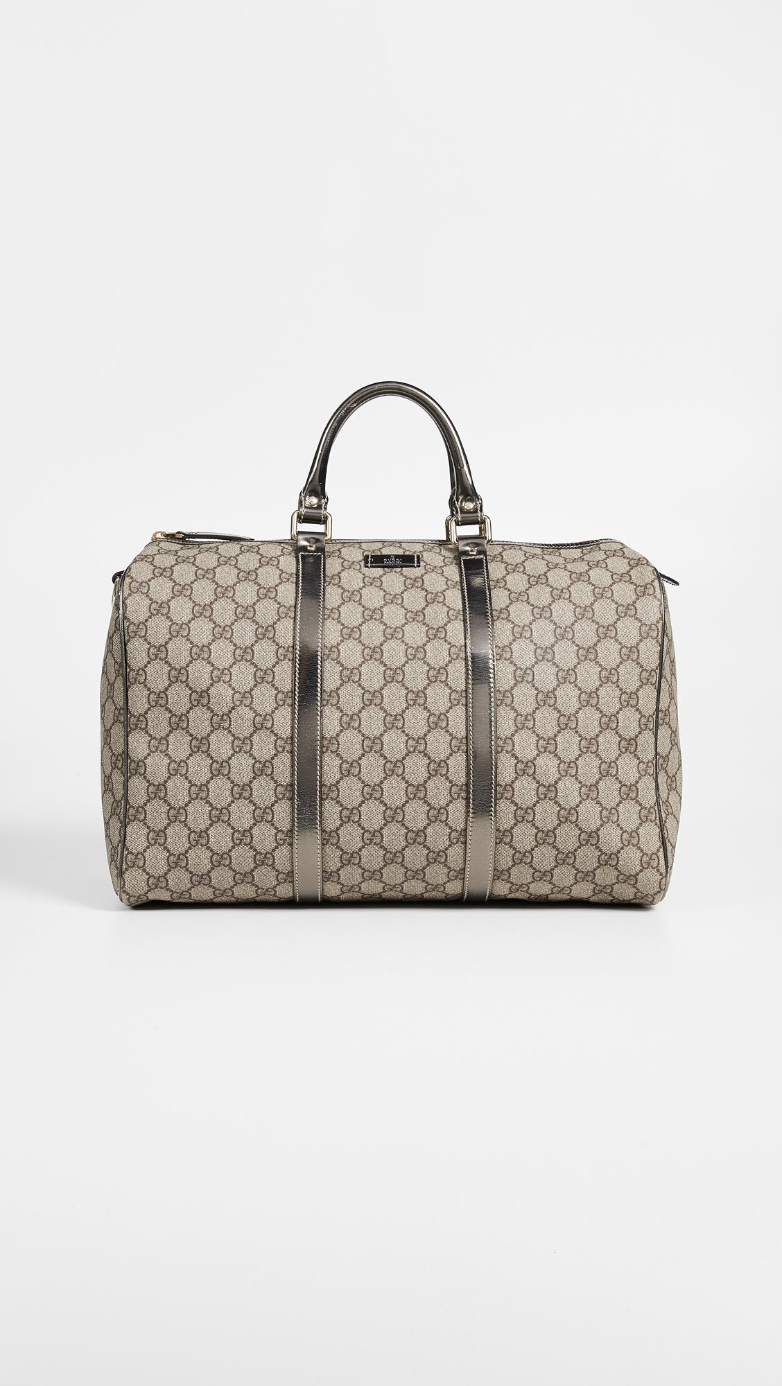 What Goes Around Comes Gucci Silver Coated Canvas Joy Boston Speedy Bag Womens Metallic
