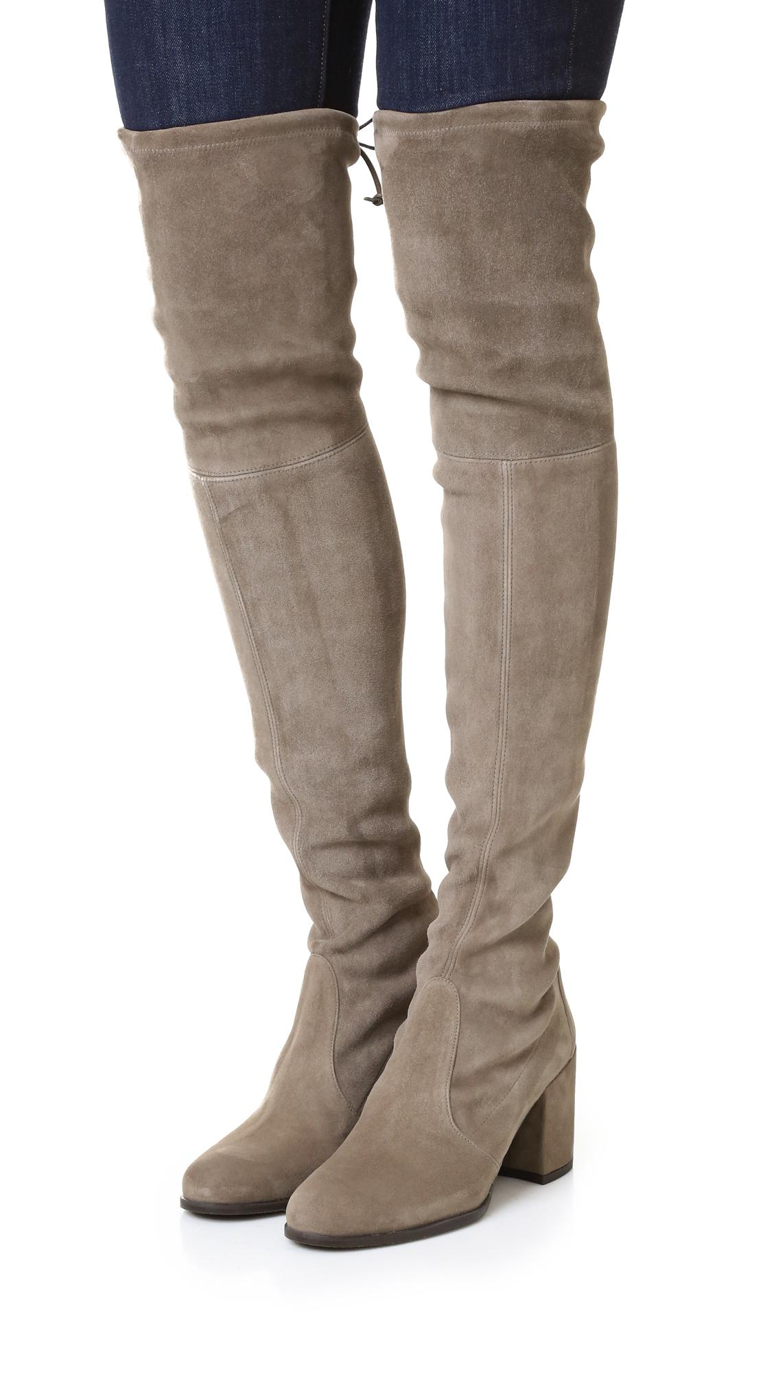 36ccc461e48 Stuart Weitzman - Brown Tieland Over The Knee Boots - Lyst. View fullscreen