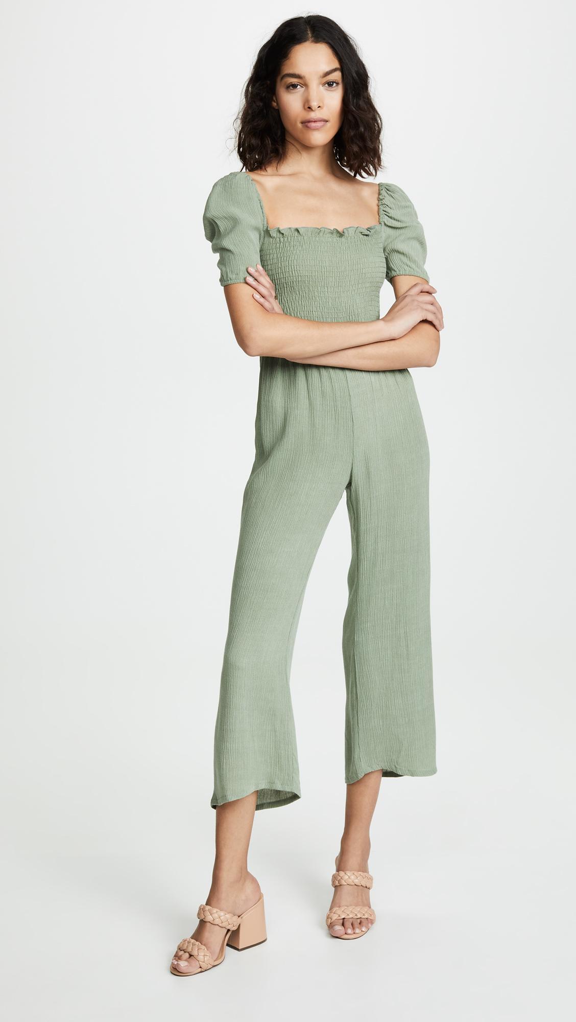 821e5f483786 Lyst - Flynn Skye Justine Jumpsuit in Green - Save 1%