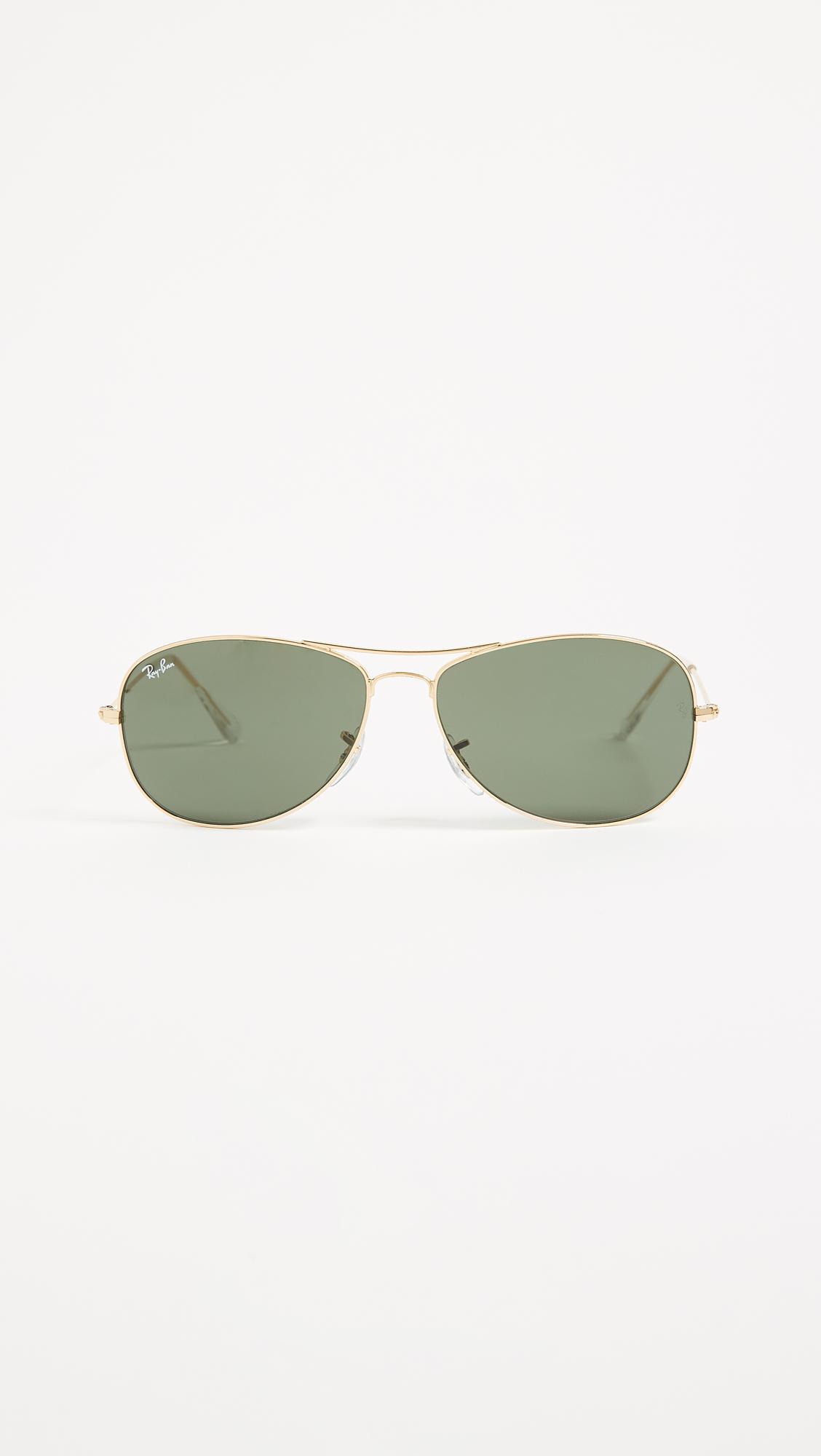 89d3d7fb074 Ray Ban Men s Cockpit Sunglasses W Green Lens Gunmetal « One More Soul
