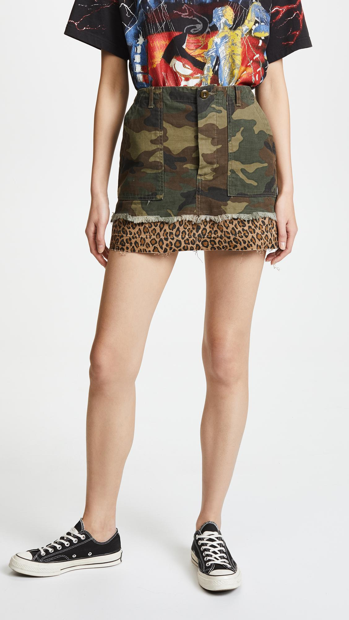 R13 utility camp skirt New Arrival Free Shipping With Credit Card bjyxM
