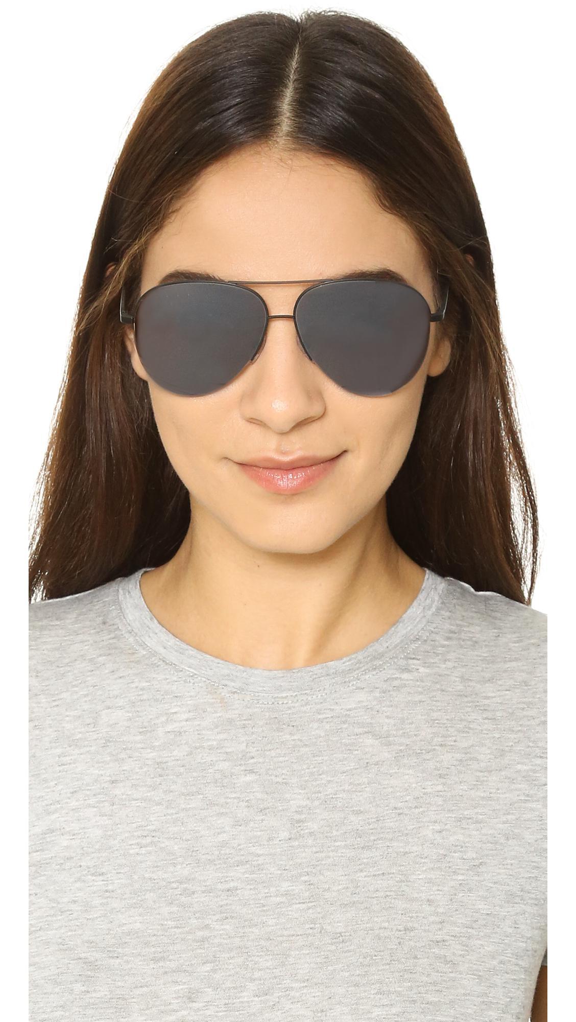 af0cc47d6a8a1 Victoria Beckham Classic Victoria Aviator Sunglasses in Black - Lyst