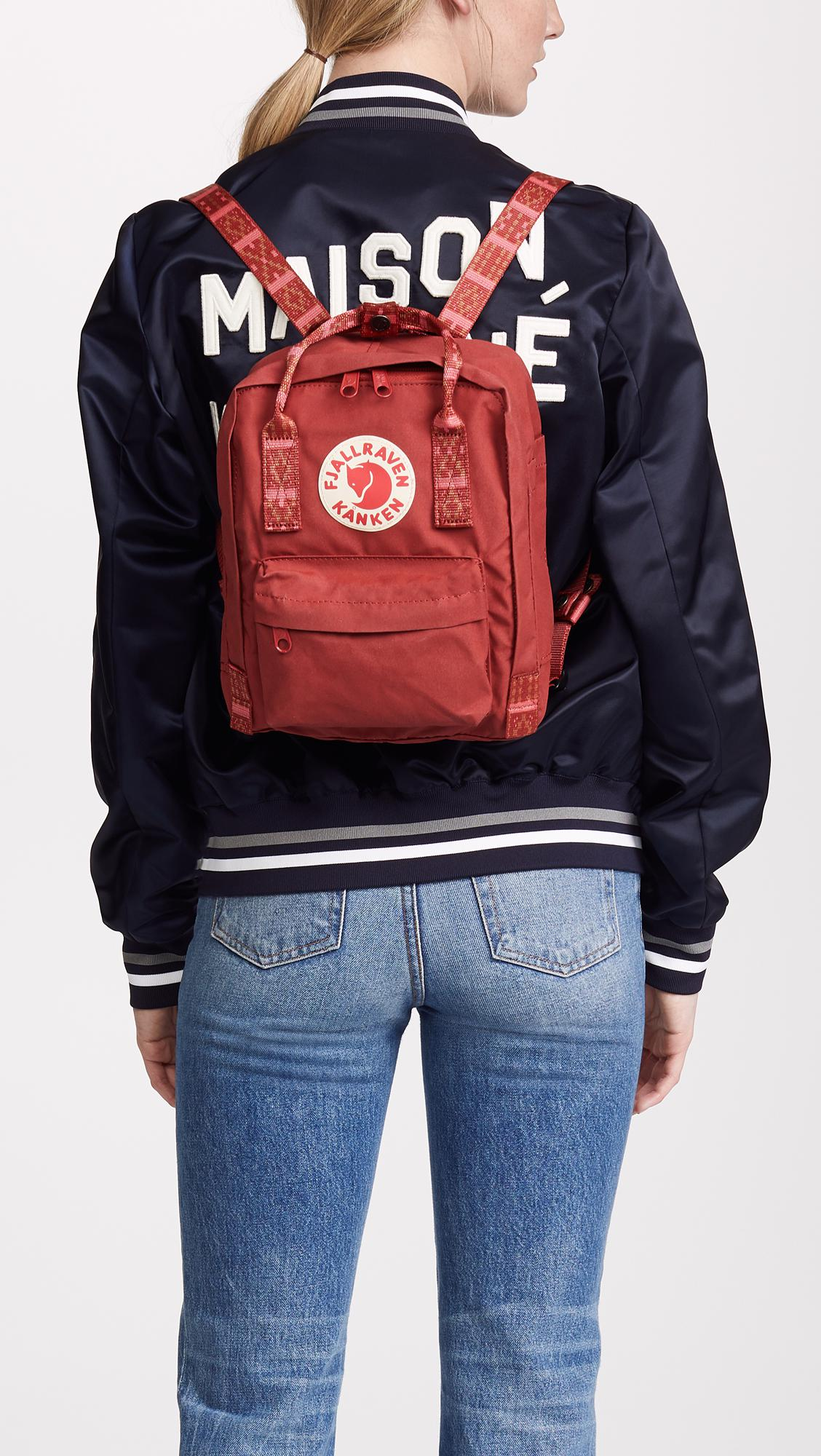 acf3e635b7 Fjallraven - Red Kanken Mini Backpack - Lyst. View fullscreen