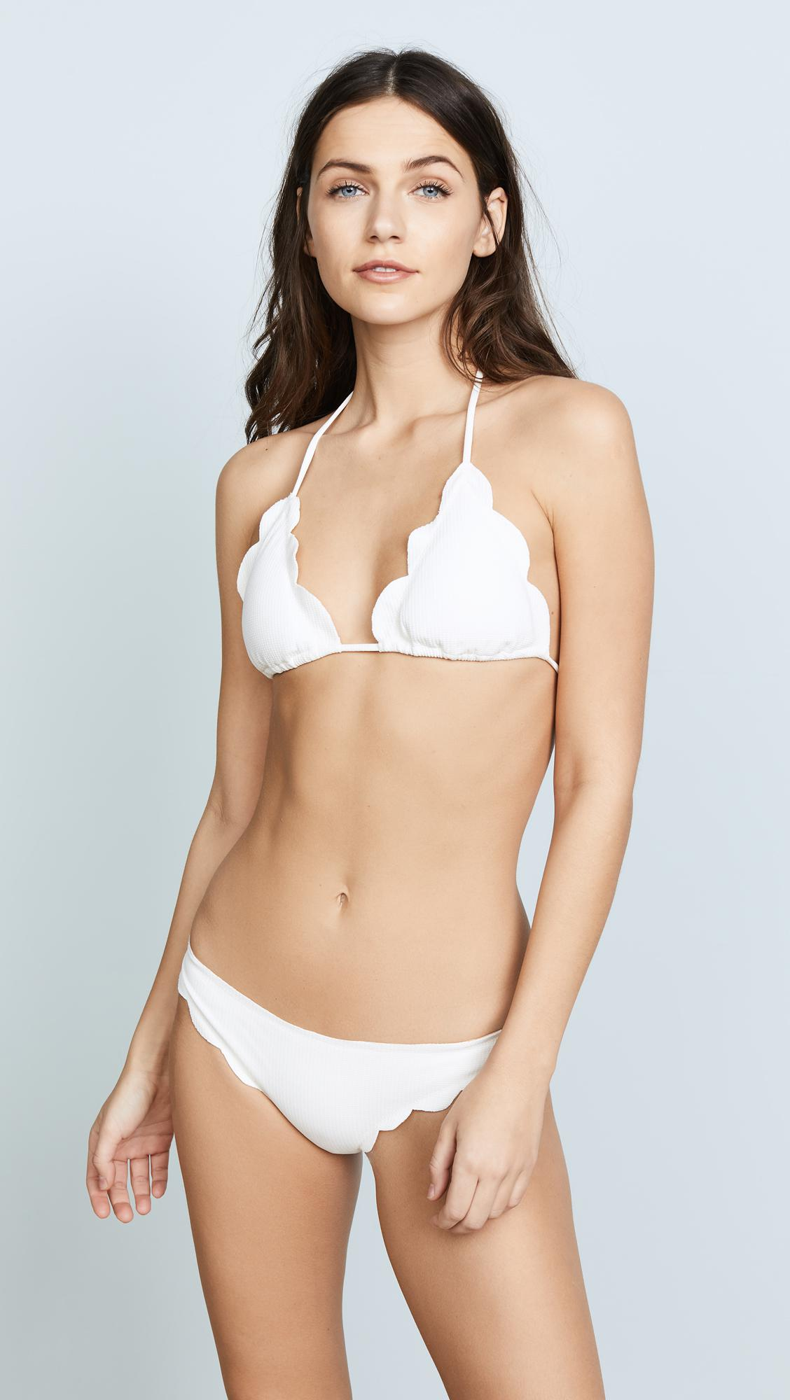 7c61ea9e3130c Marysia Swim Broadway Scallop Bikini Top - Save 1% - Lyst