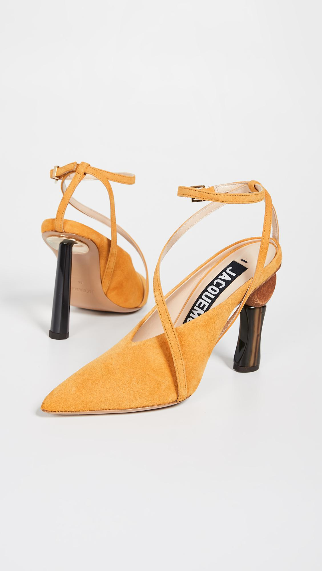 Pumps Les In Yellow Lyst Chaussures Faya Jacquemus Save v4wB7q