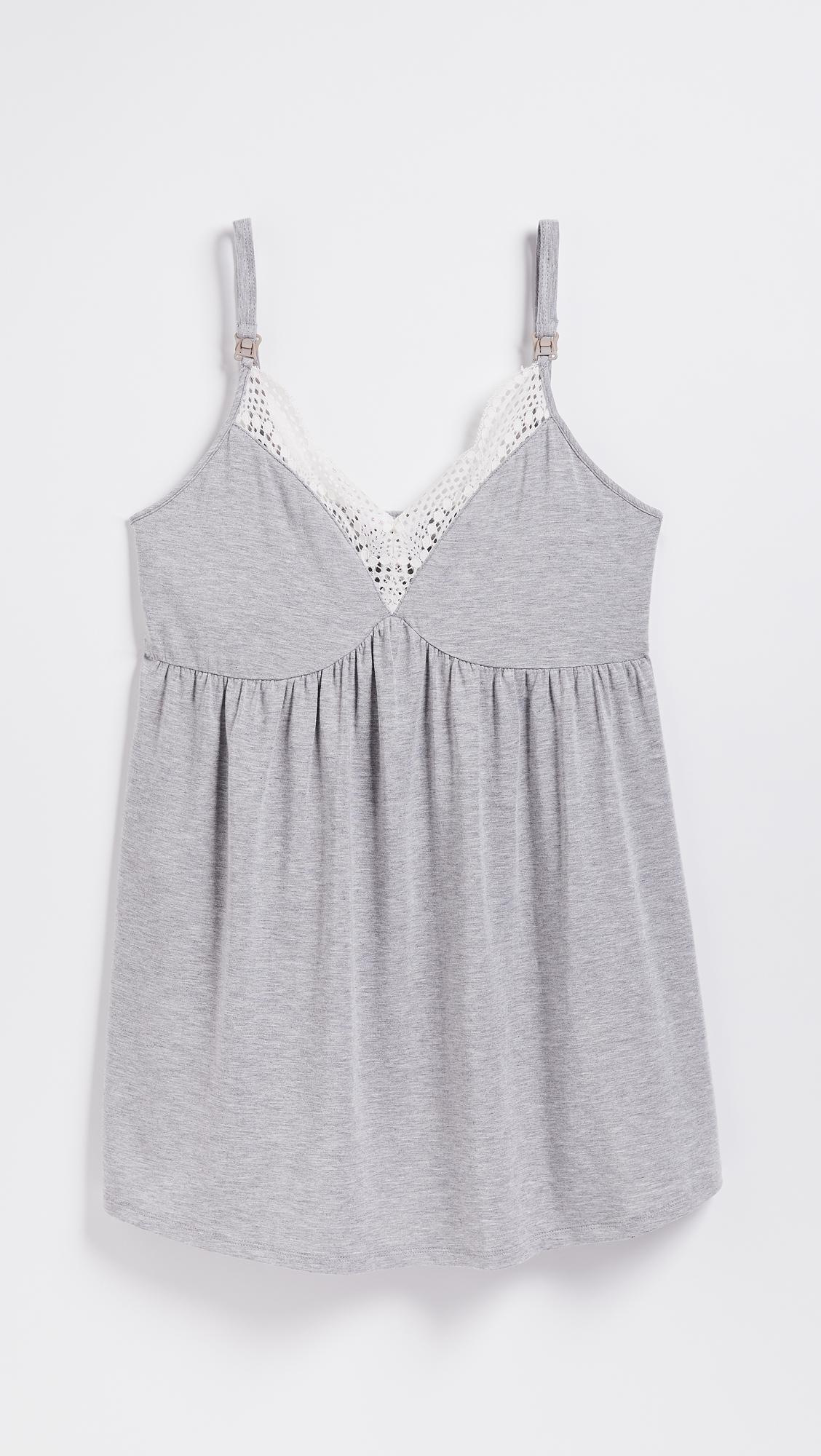 616349c6671 Ingrid   Isabel Maternity Lace Trim Sleep Cami in Gray - Lyst