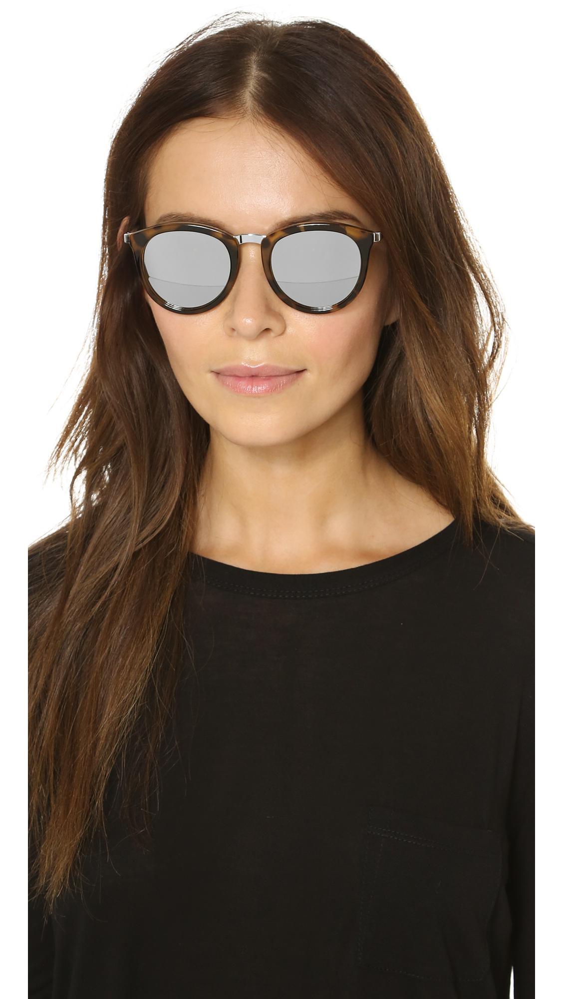 db5c84ce9a4 Le Specs - Metallic No Smirking Sunglasses - Lyst. View fullscreen