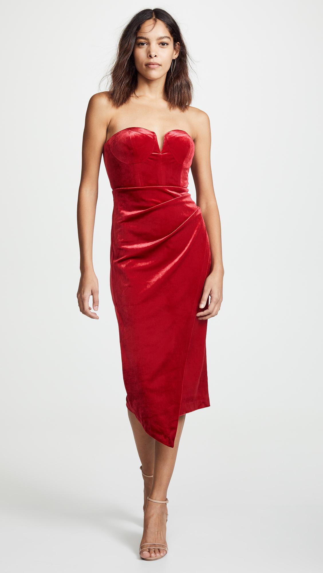 Lyst - Yumi Kim Velvet Allure Dress in Red 0bdb4d5ee