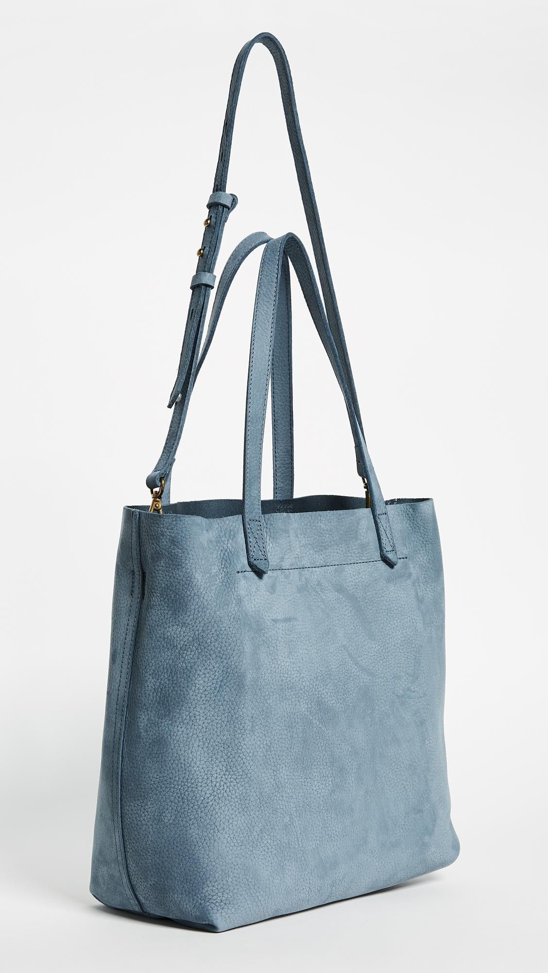cab06d0be Madewell Medium Transport Tote In Nubuck in Blue - Lyst