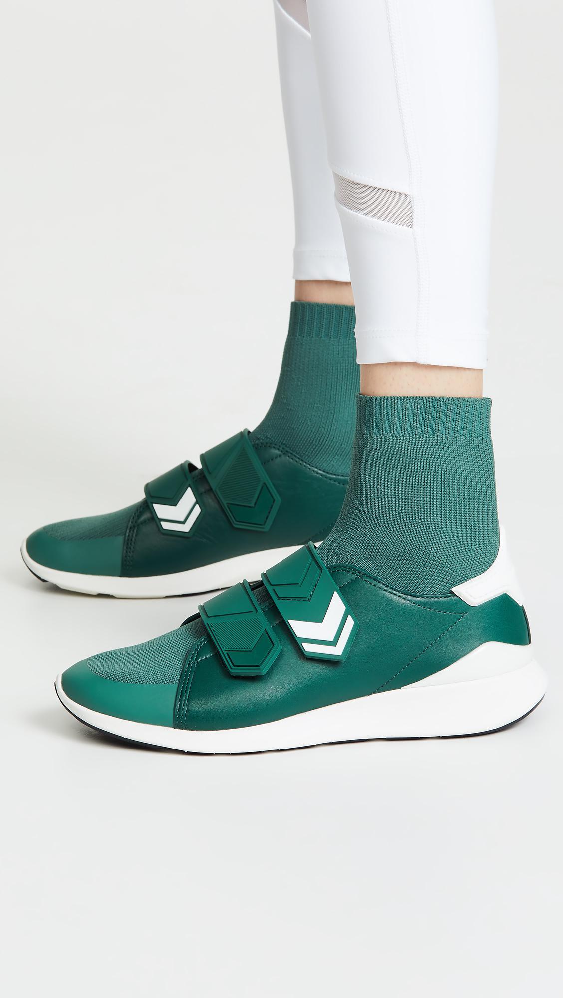 4fe356d194fc Lyst - Tory Sport Chevron Strap Sock Sneakers in Green