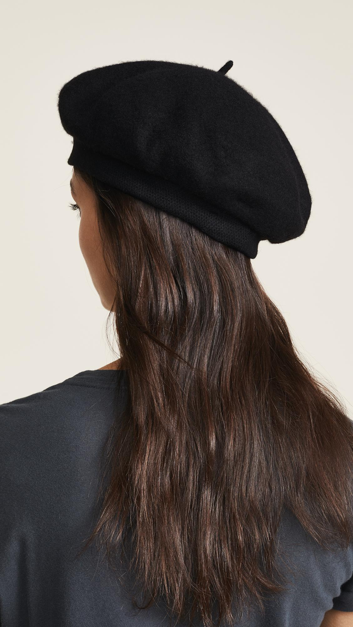 Brixton - Black Audrey Beret Hat - Lyst. View fullscreen 9abeb0f31b32