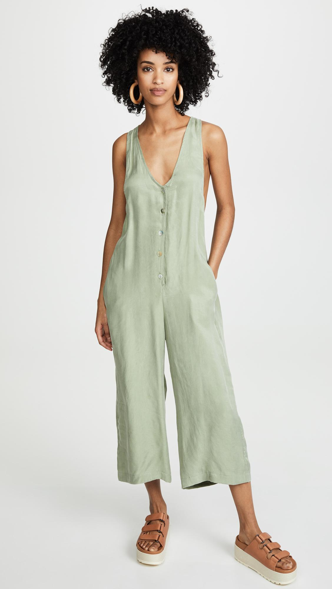 d8773de3f09 Lyst - MINKPINK Racer Back Jumpsuit in Green
