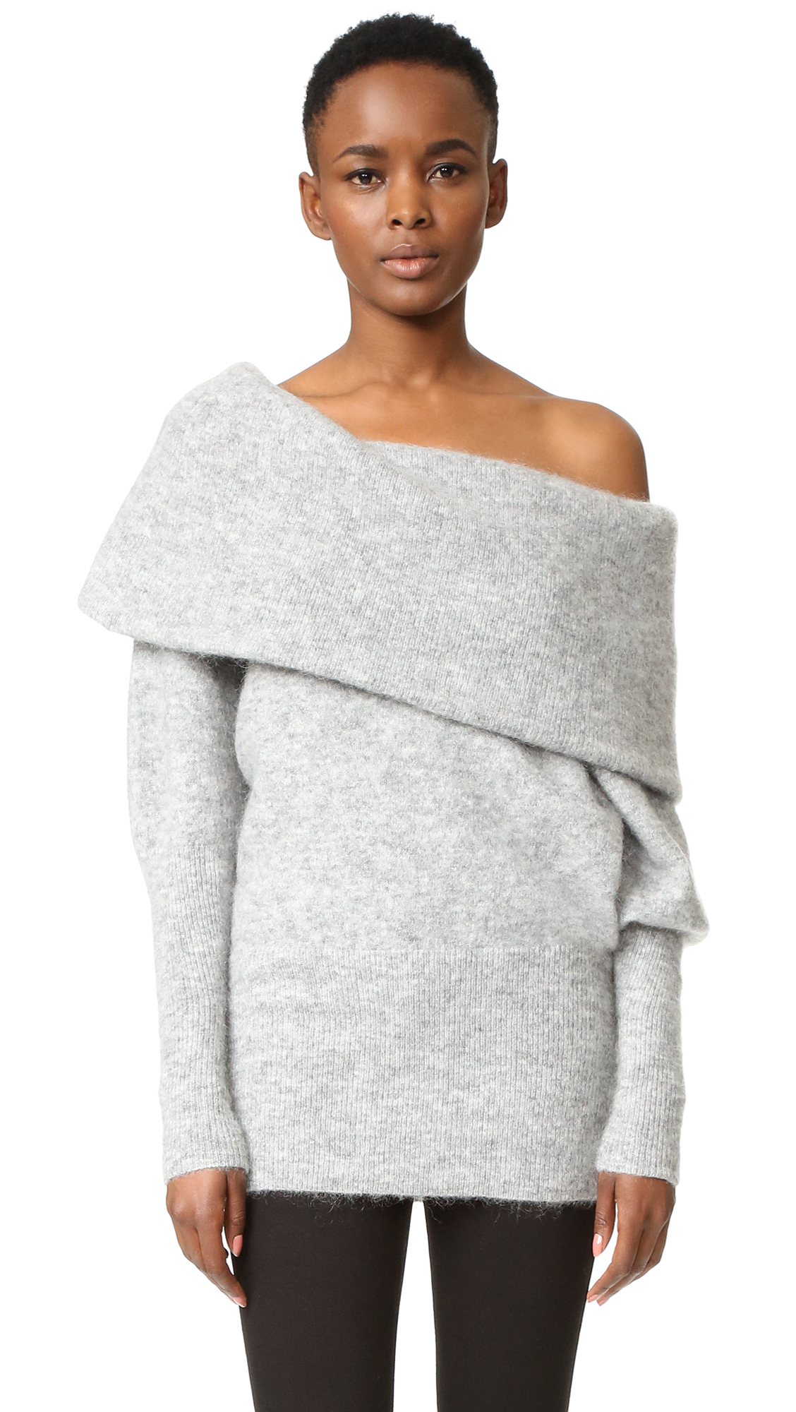 lyst acne studios daze mohair sweater in gray. Black Bedroom Furniture Sets. Home Design Ideas