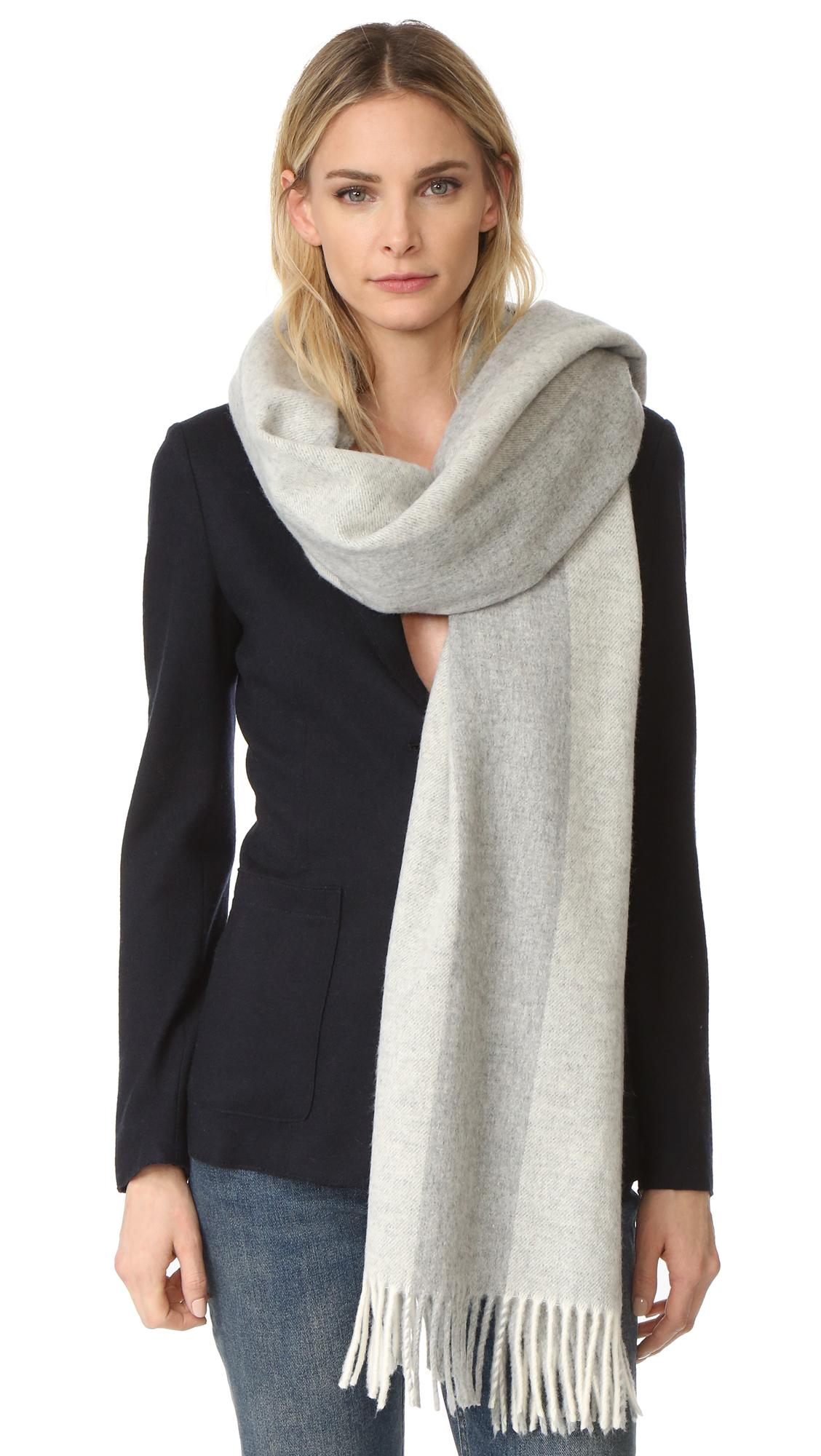 acne studios canada bengal scarf in gray lyst