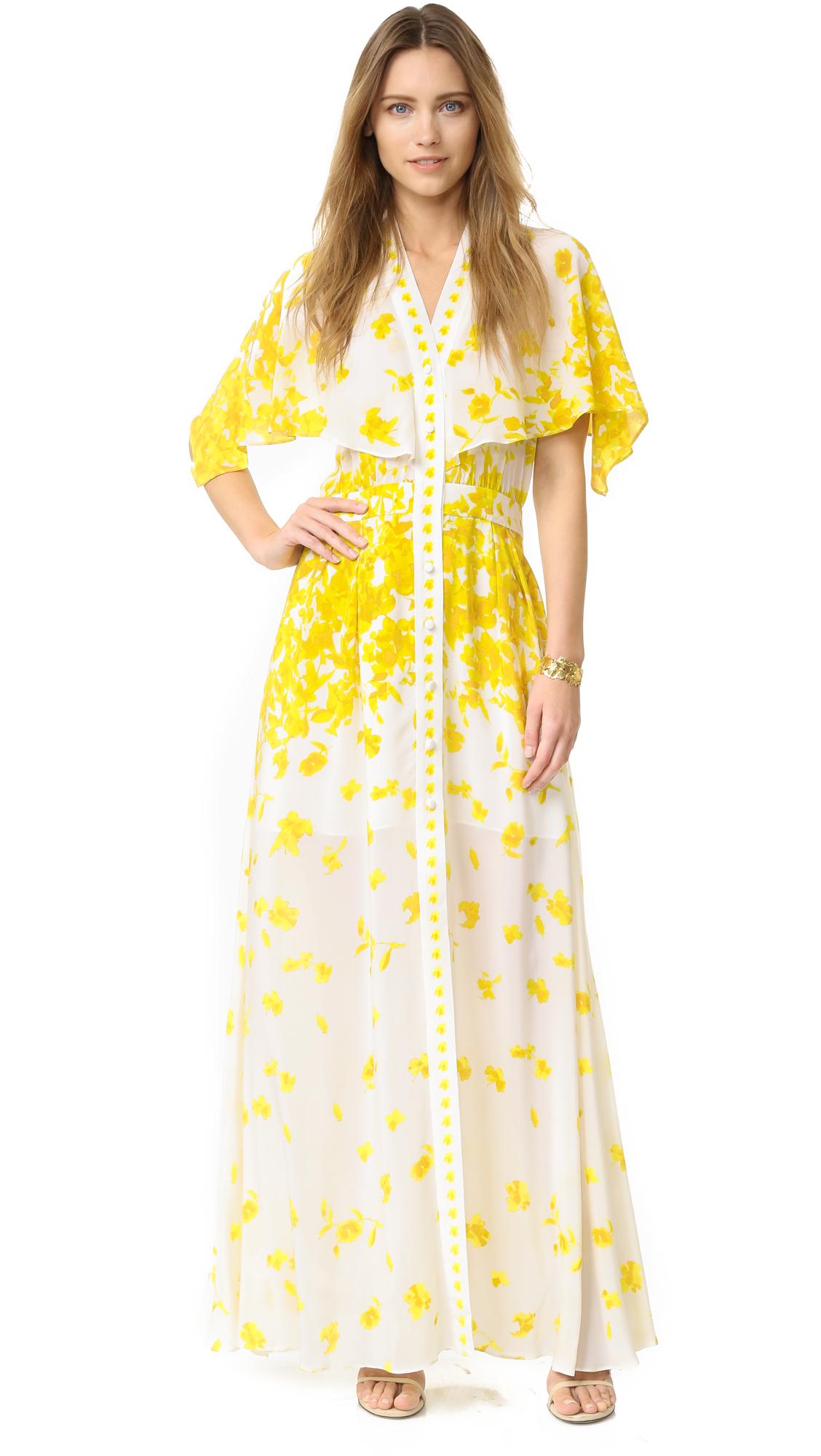 610abc90c4df Alexis Jeannie Silk Dress in Yellow - Lyst