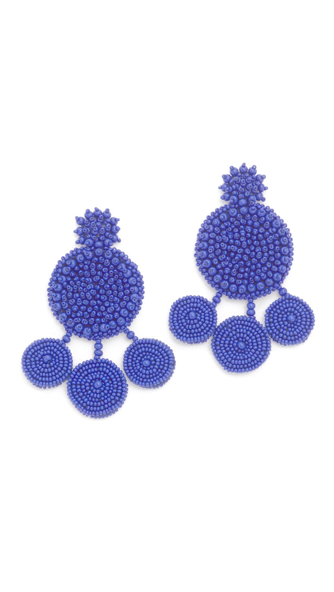 All Things Mochi Spanish Earrings In Blue Lyst