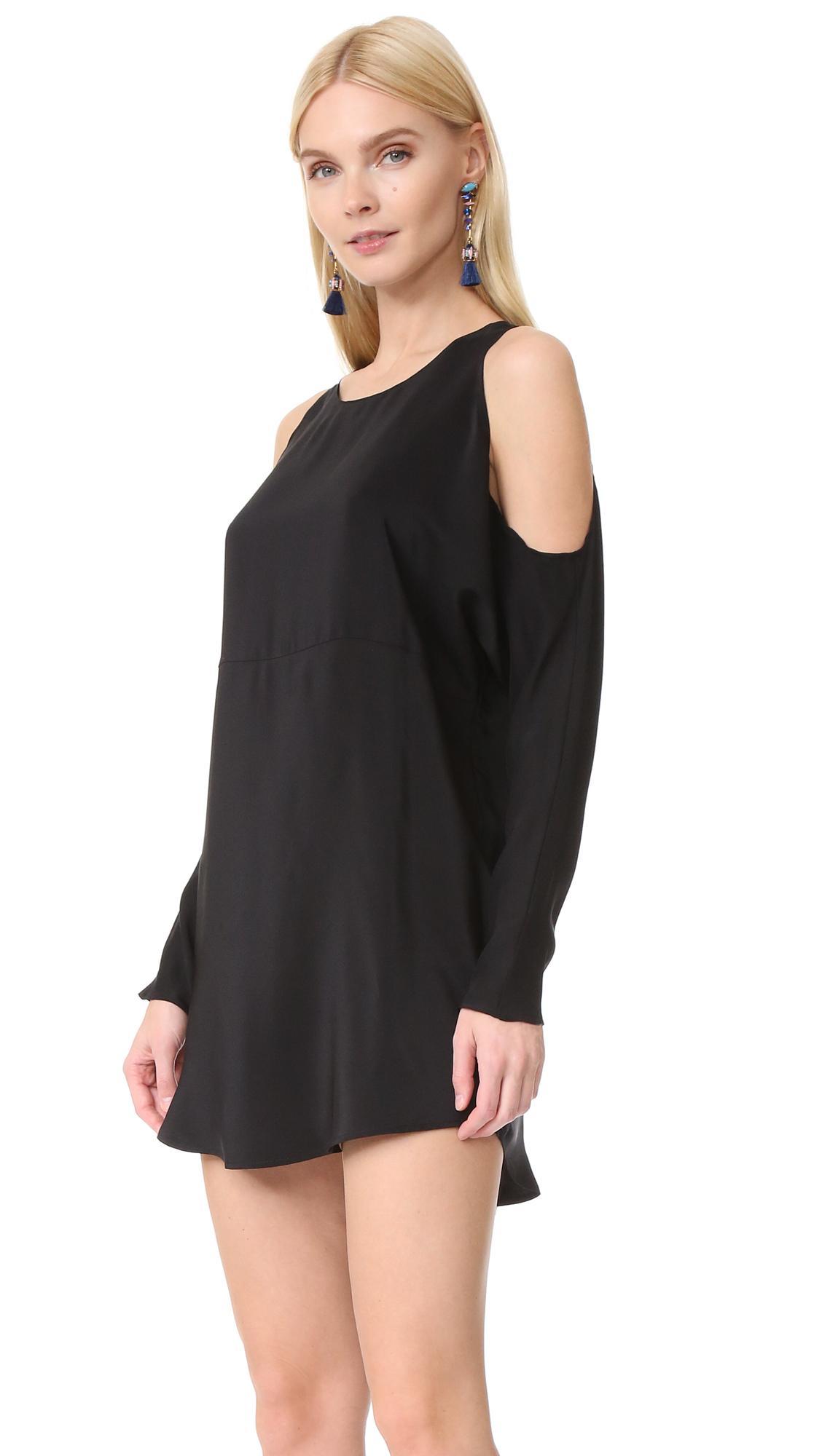 Lyst Amanda Uprichard Powell Dress In Black