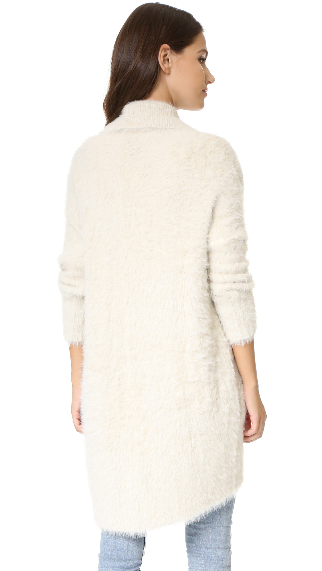 Lyst Bb Dakota Edwin Fuzzy Cocoon Sweater