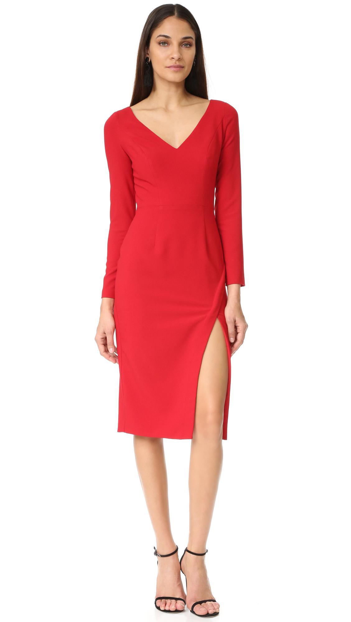 e0898f02 Lyst - Black Halo Gilda Sheath Dress in Red