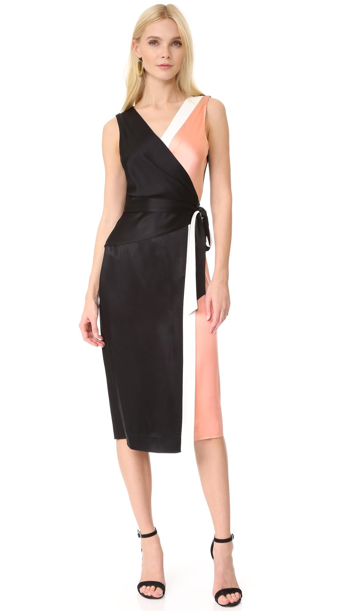 Lyst diane von furstenberg sleeveless taped wrap dress for Diane von furstenberg clothes
