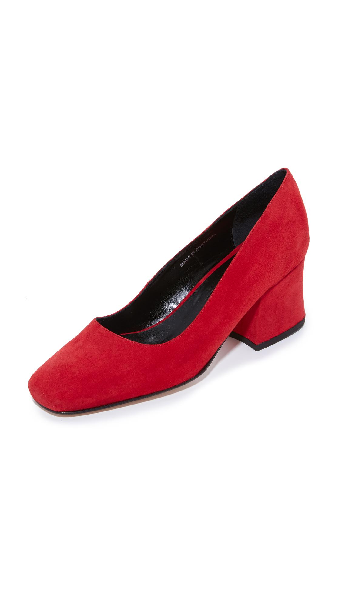 Lyst Dorateymur Model T Leather Pumps In Red