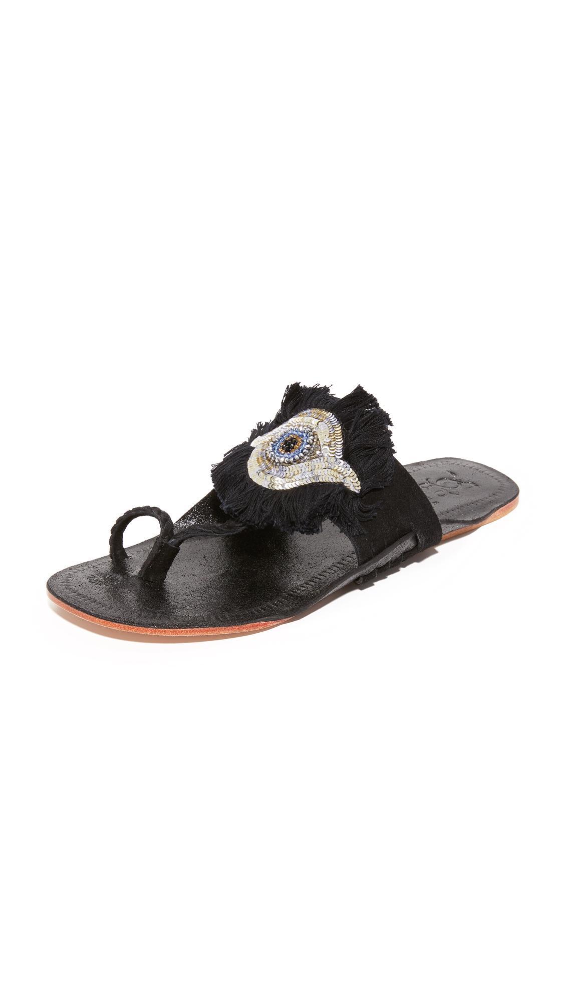 Lyst Figue Evil Eye Sandals In Black