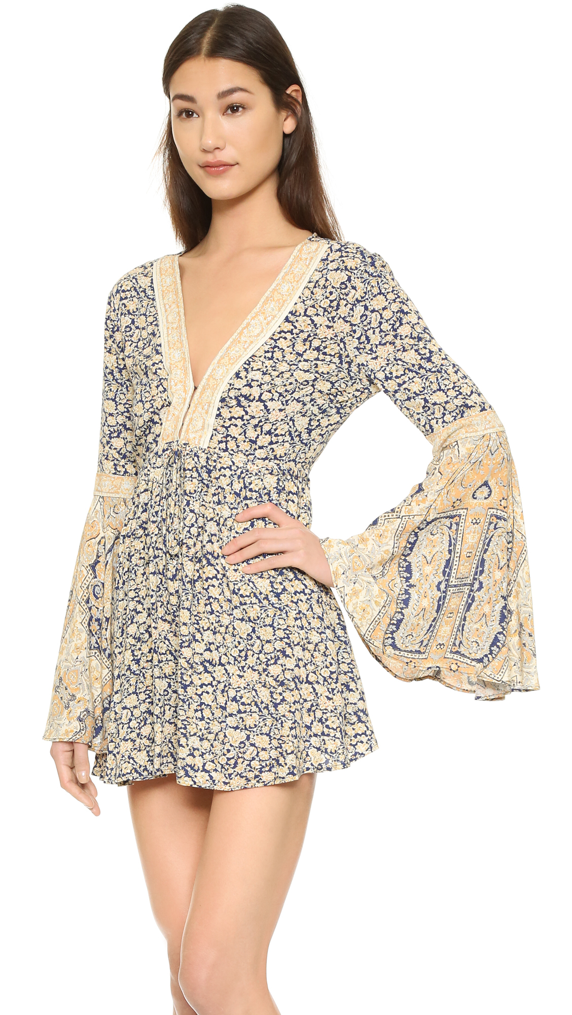 8873150b2c6 Lyst - Free People One Upon A Summertime Romper in Blue