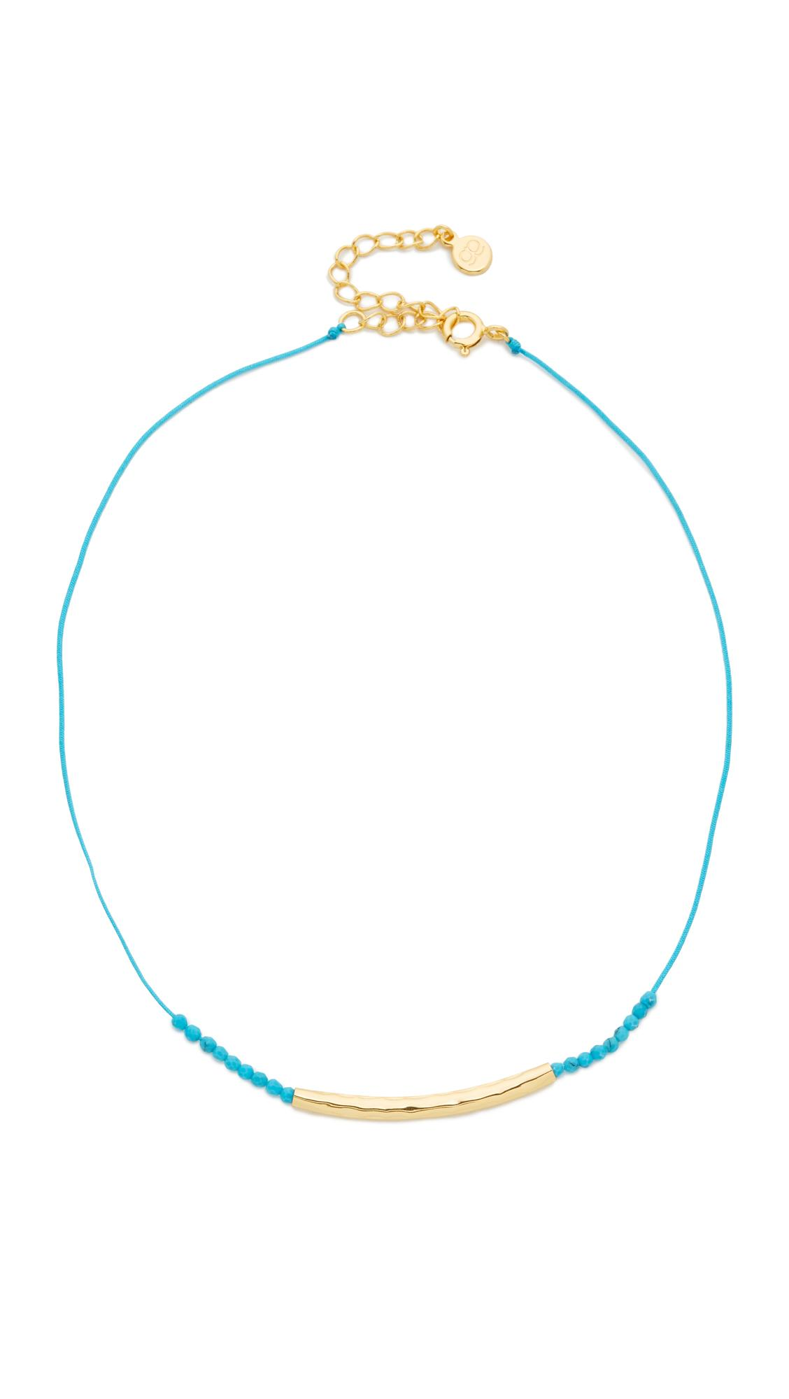 Gorjana Power Gemstone Choker Necklace in Metallic