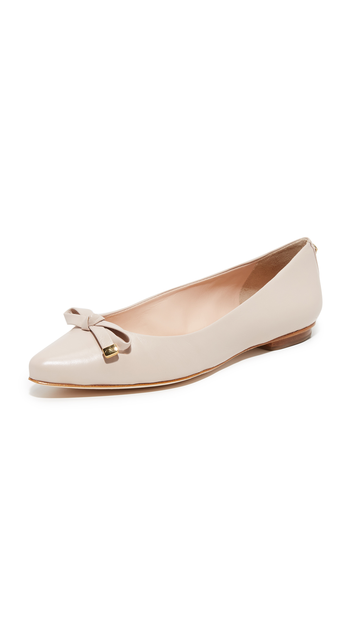 Lyst kate spade new york emma flats in natural for Kate spade new york flats