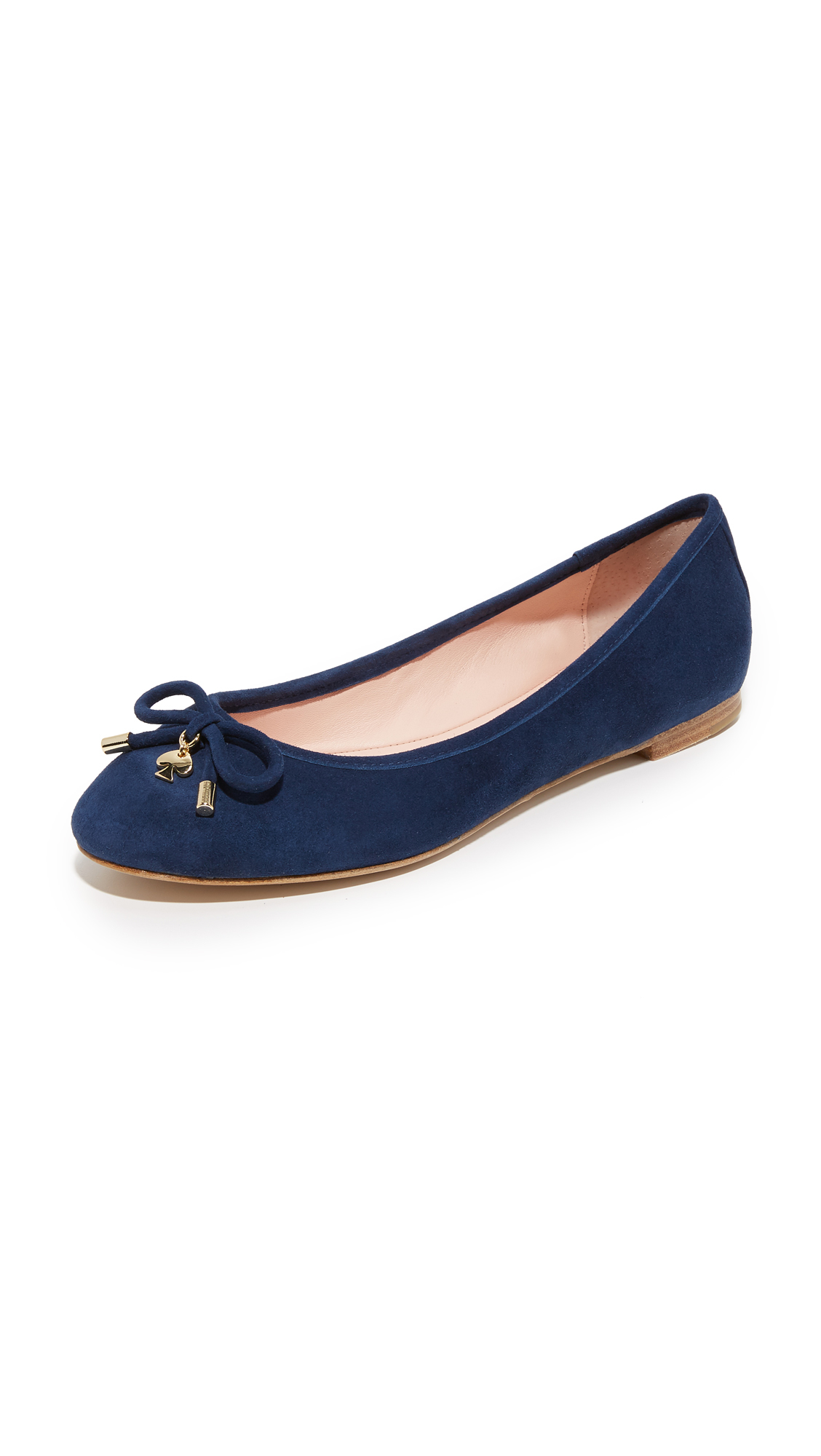 Kate spade new york willa flats in blue lyst for Kate spade new york flats