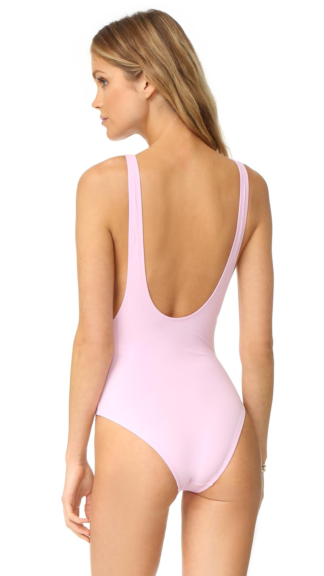 8f96e177b059 Karla Colletto Elle One Piece in Pink - Lyst