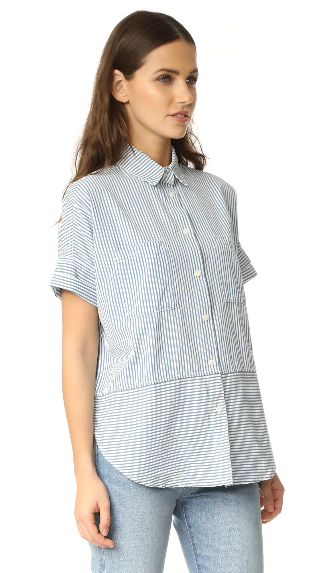 2a724fdb Madewell Courier Shirt in Blue - Lyst