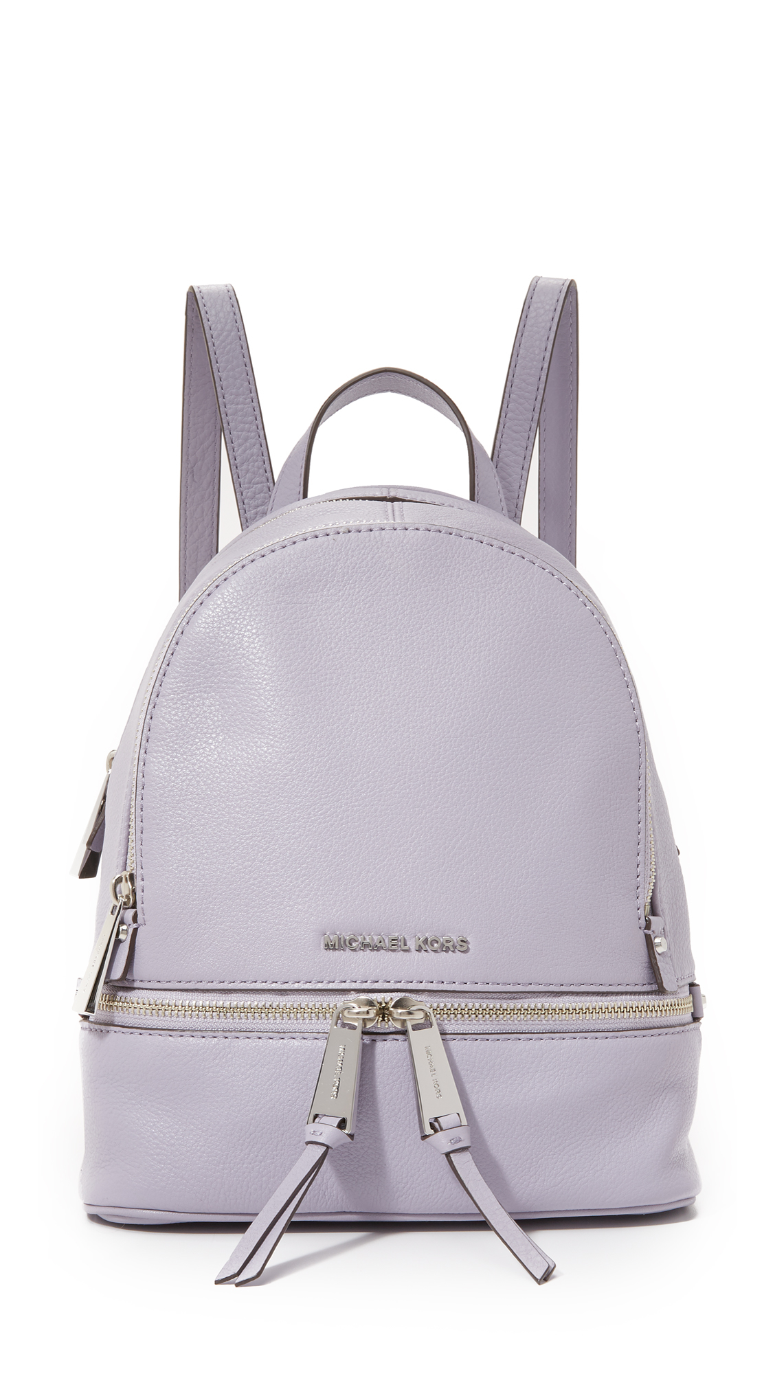 8d580122e ... coupon code for lyst michael michael kors mini rhea backpack in purple  0918a c178b
