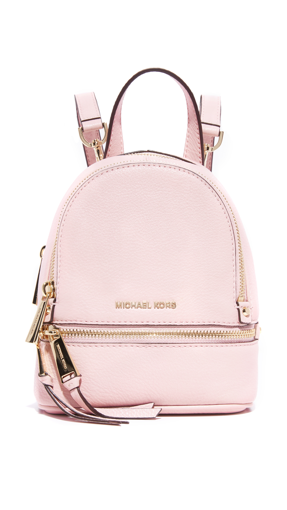... new zealand lyst michael michael kors rhea mini backpack in pink 4df4f  cb421 ec3153be8b69f