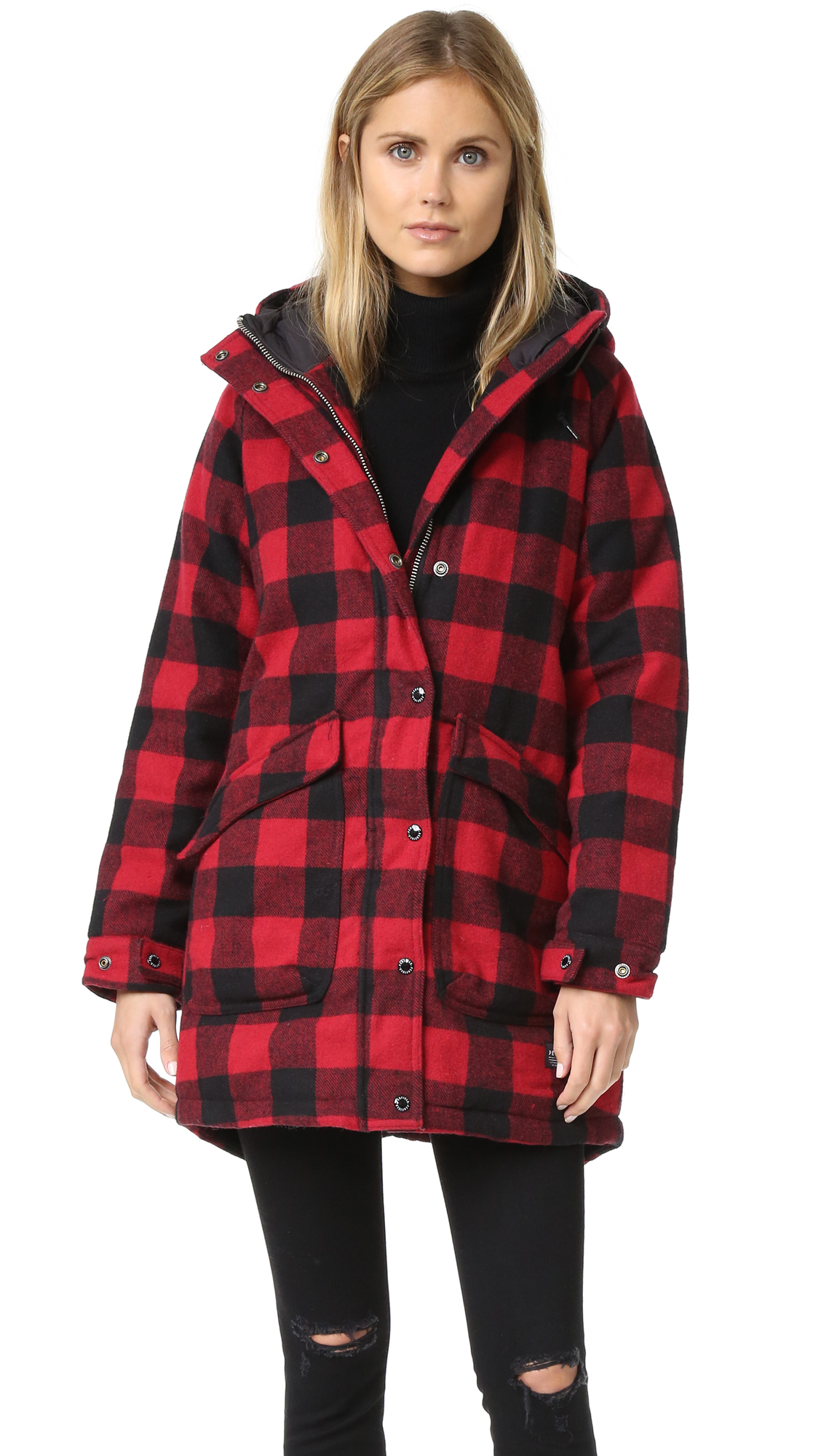 Penfield Kingman Buffalo Insulated Fishtail Parka in Red | Lyst