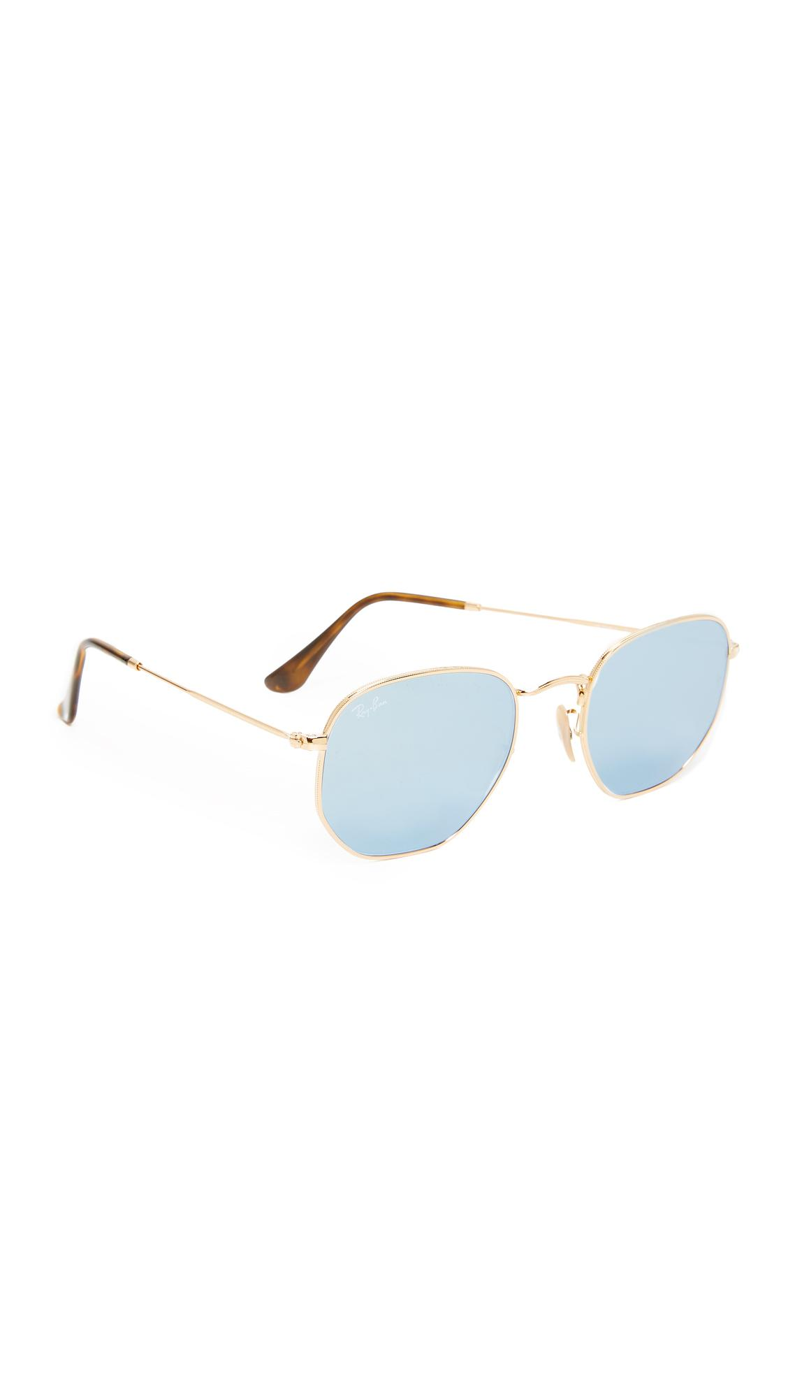 bdcae936264e Lyst - Ray-Ban Hexagonal Sunglasses in Metallic