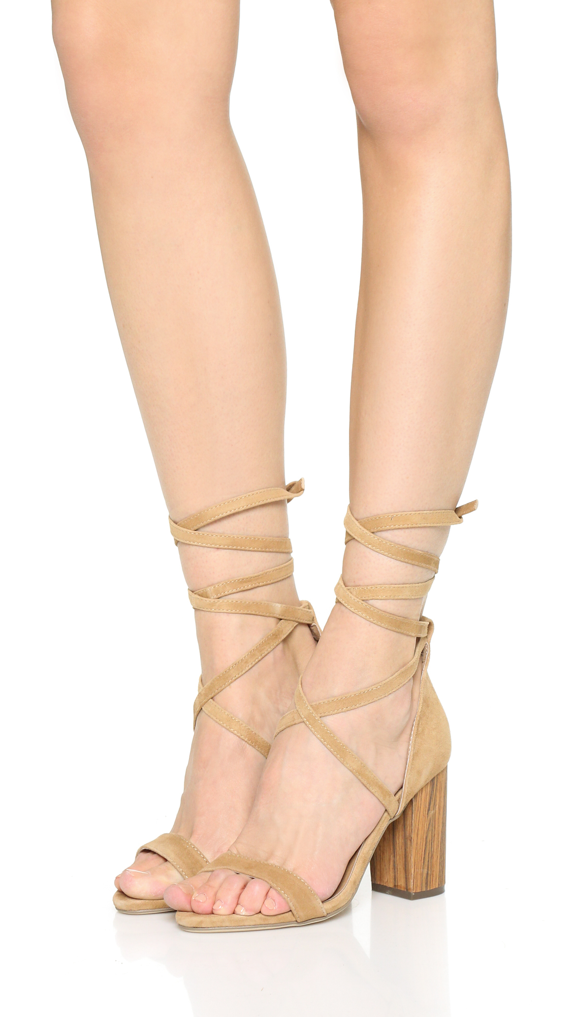 8b8804a8674d Lyst - RAYE Layla Lace Up Sandals in Natural