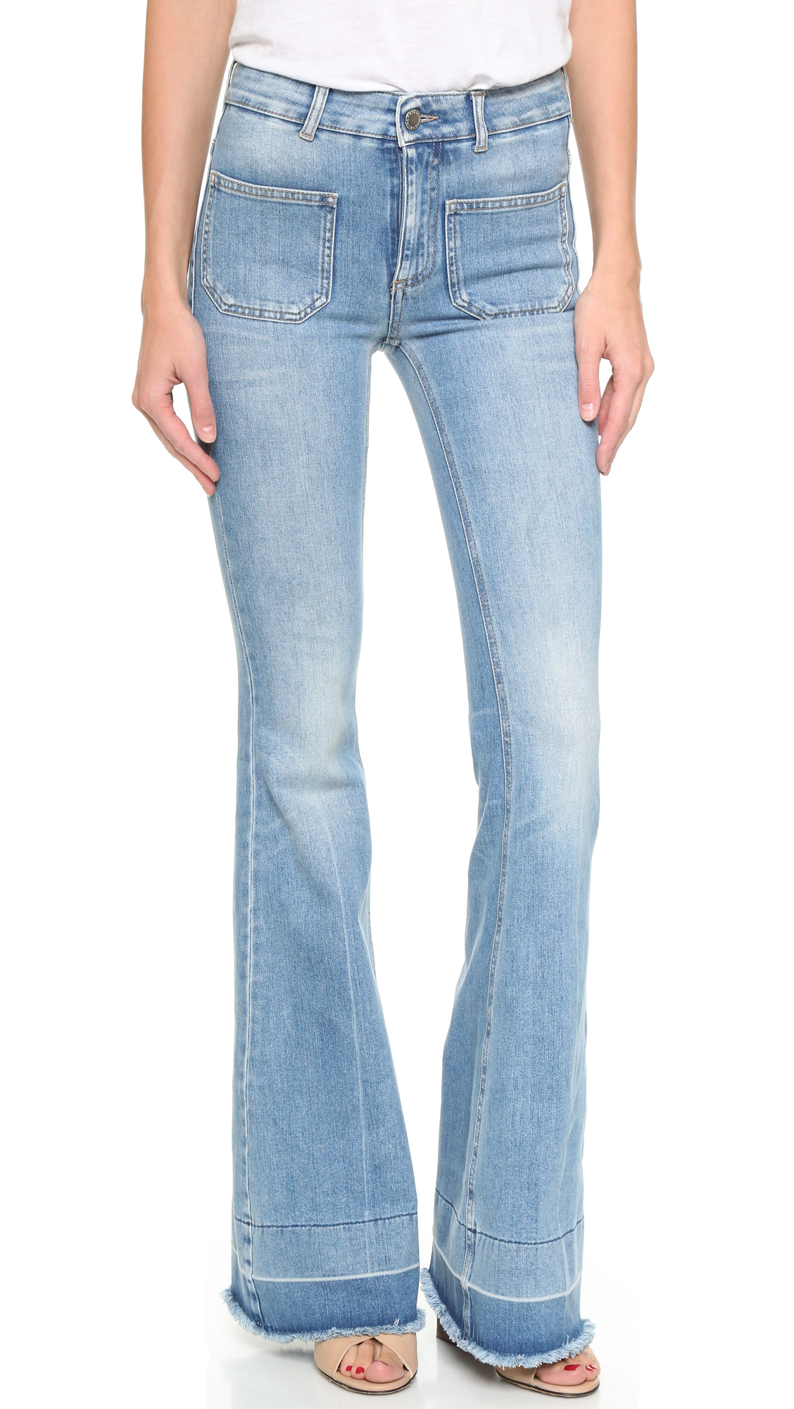Lyst Stella Mccartney 70s Flare Jeans With Patch Pockets