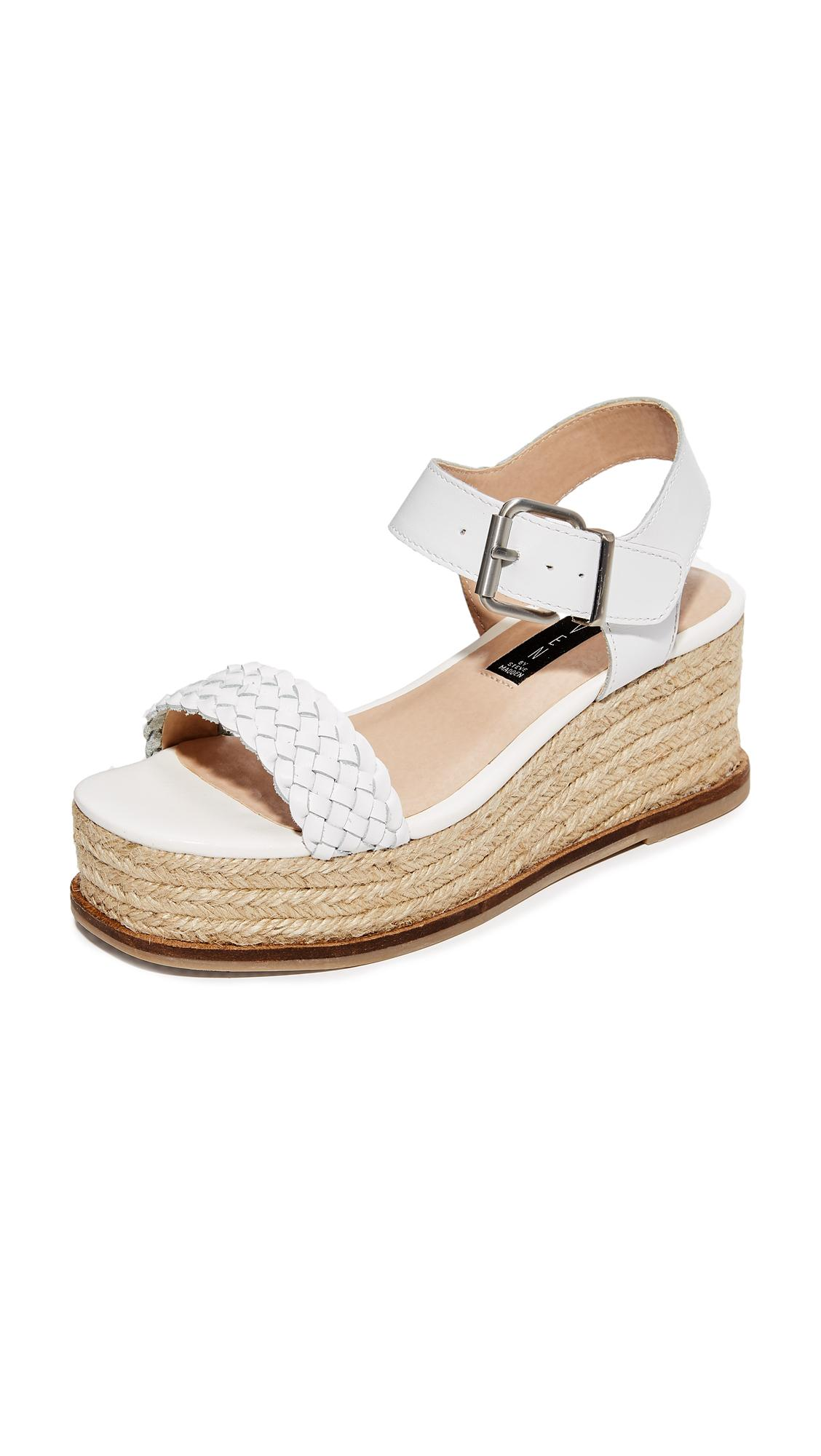 Steven By Steve Madden Sabble Flatform Sandals In White Lyst