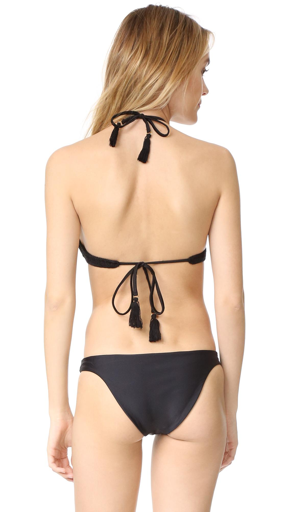 Suboo Crochet Bikini in Black