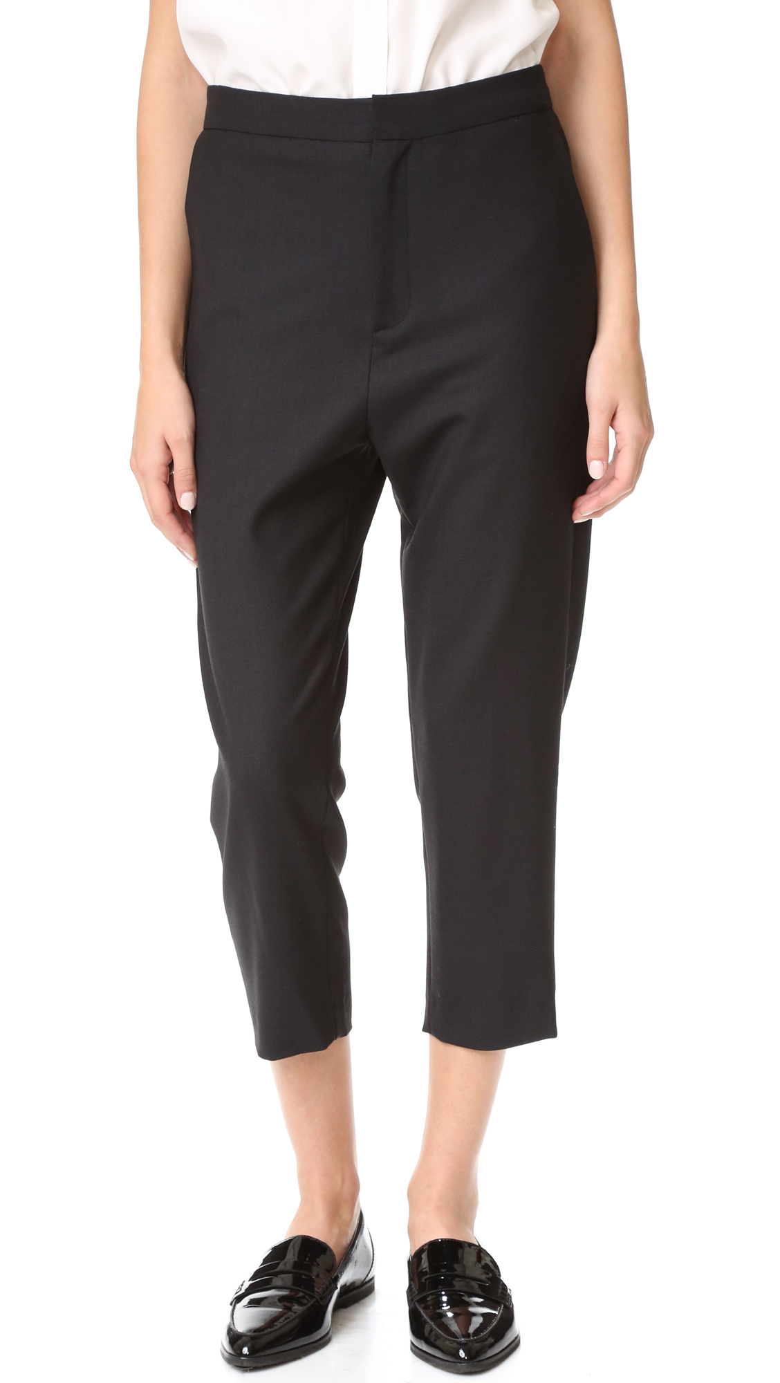 Superfine Secret Tailored Pants in Black