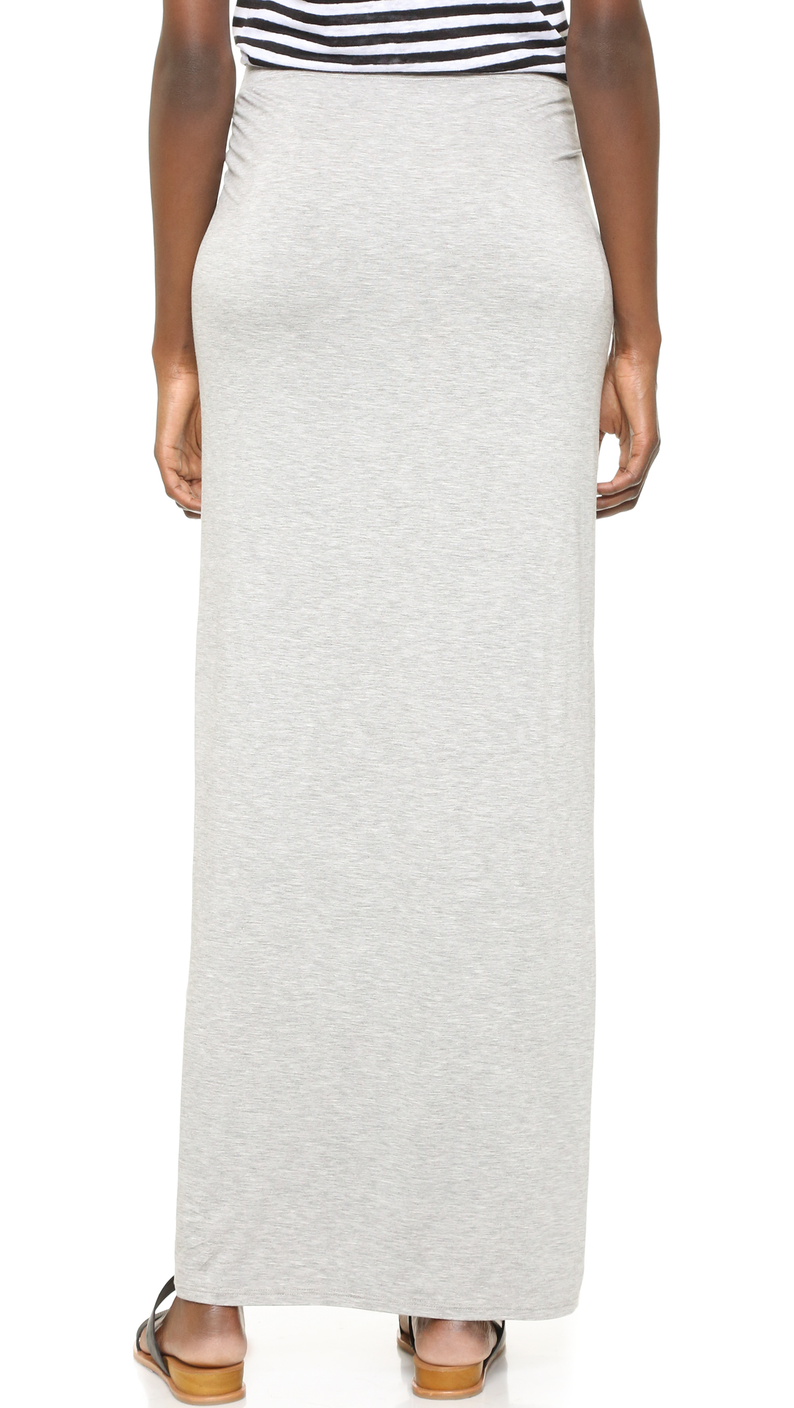 three dots sammy maxi skirt with drape in white lyst