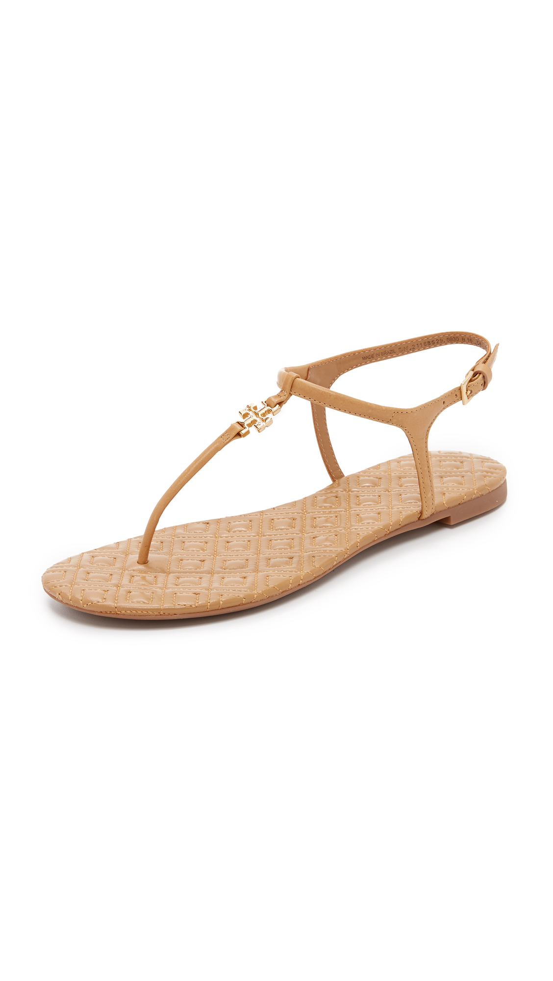 bceb5273c321 Lyst - Tory Burch Marion Quilted Sandals in Natural