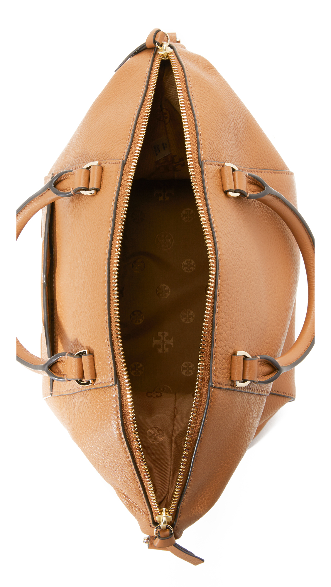 Lyst - Tory Burch Bombe T Medium Slouchy Satchel in Natural d3a05d3367d16