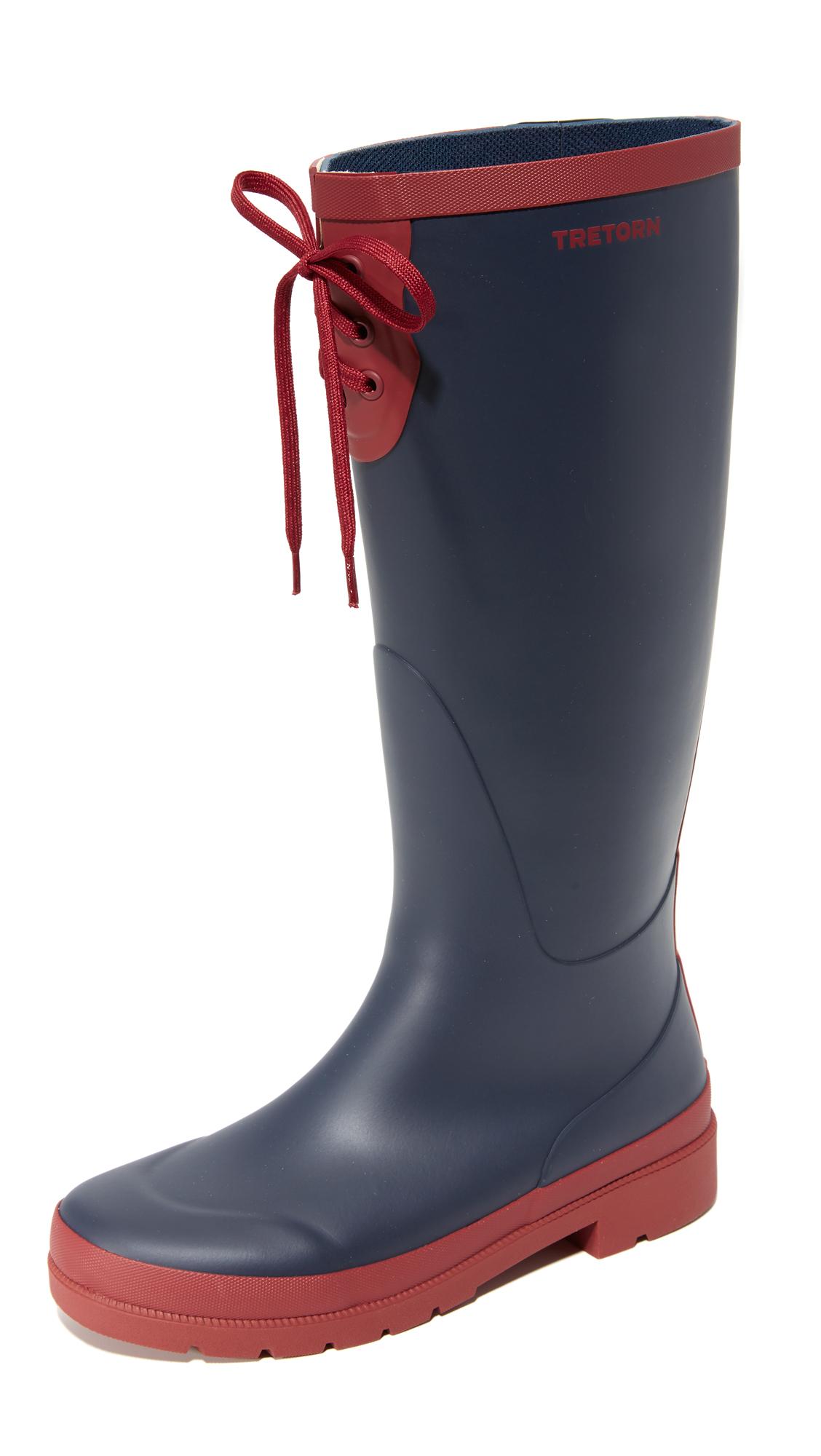 Tretorn Lacey Tall Rain Boots In Blue Lyst