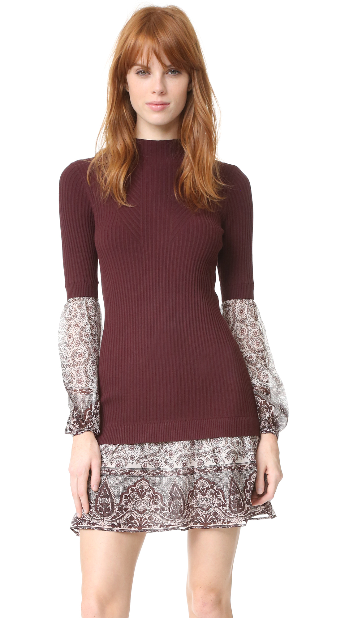 Lyst veronica beard sweater shirt combo dress for Sweater and dress shirt combo