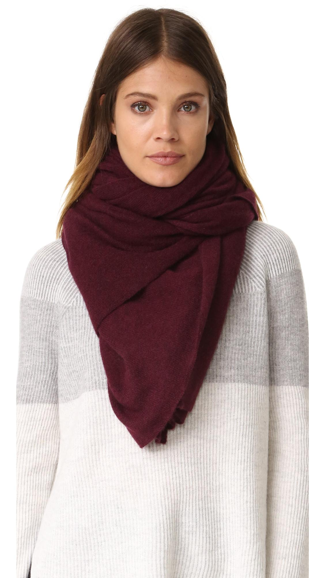 Lyst white warren cashmere travel wrap scarf for Travel scarf