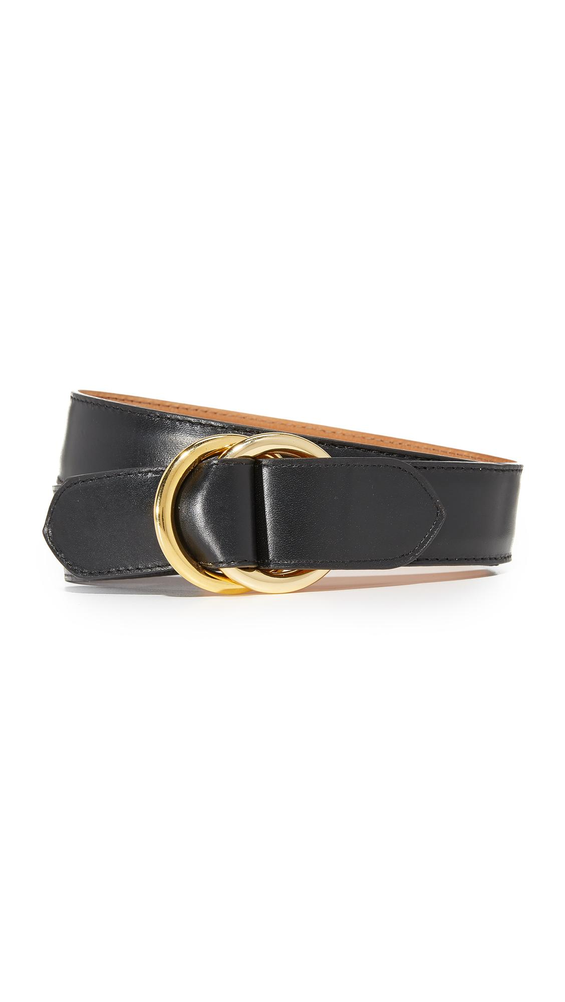 w kleinberg leather o ring belt in black lyst
